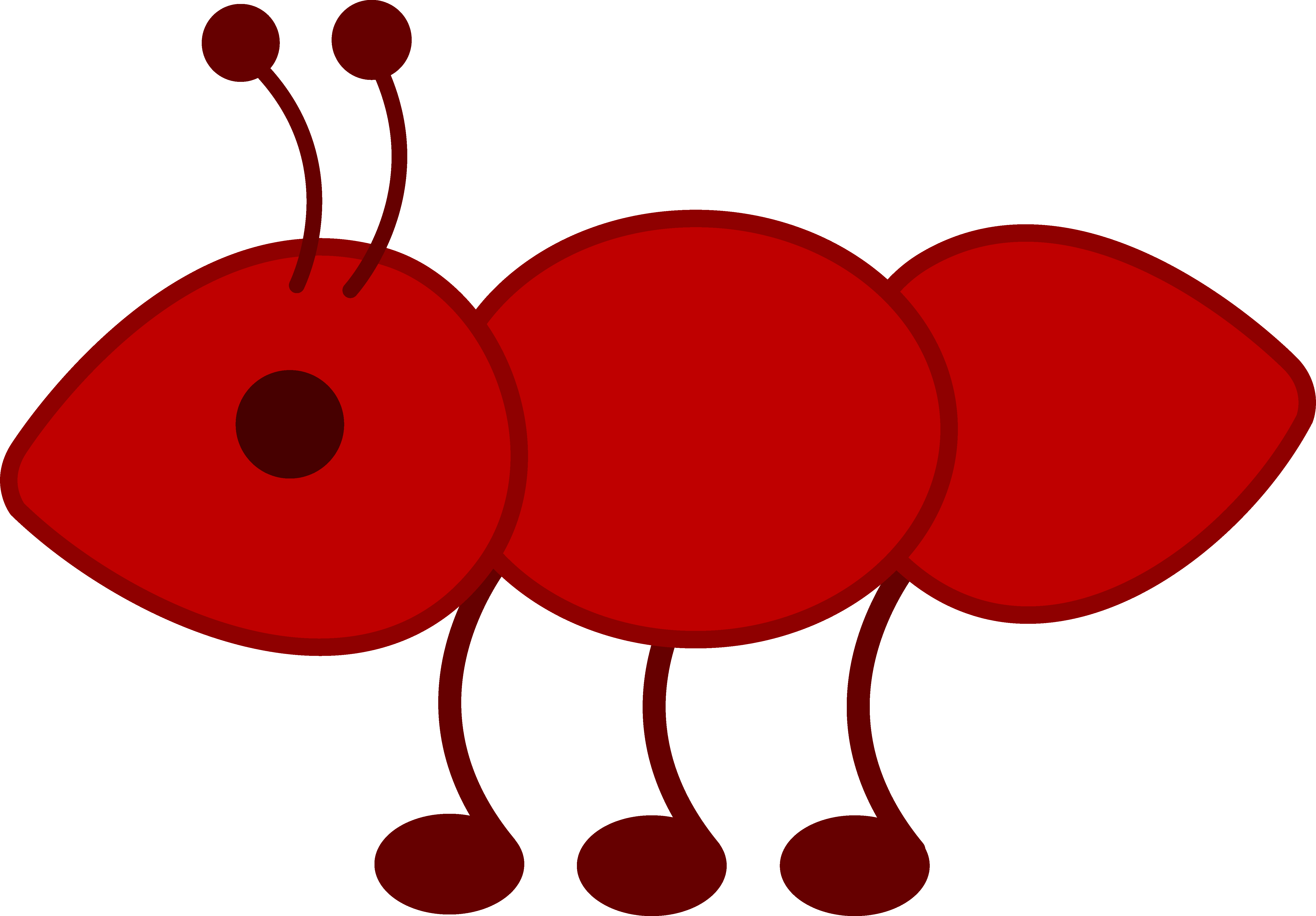 Transparent ant little red. Free clipart image