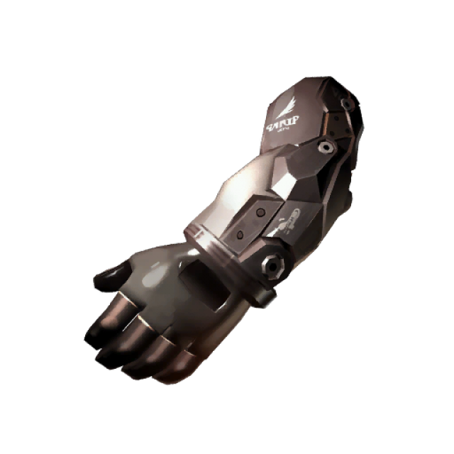 Transparent arms fist. Purity object giant bomb