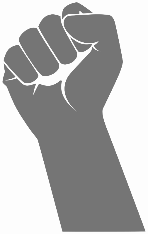 Transparent arms fist. By loogieart signs symbol