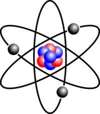 Transparent atom background. What are the particles