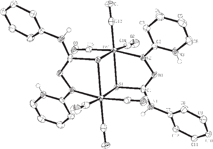 Transparent atom complex. Structure of with labelling