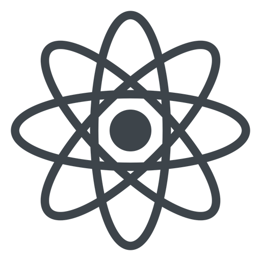 Transparent atom kinds. Flat school icon png