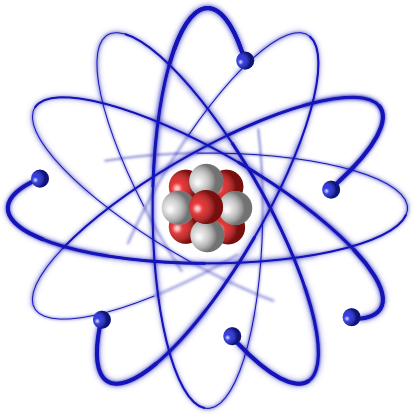Transparent atom physical science. Atoms pi alpha in