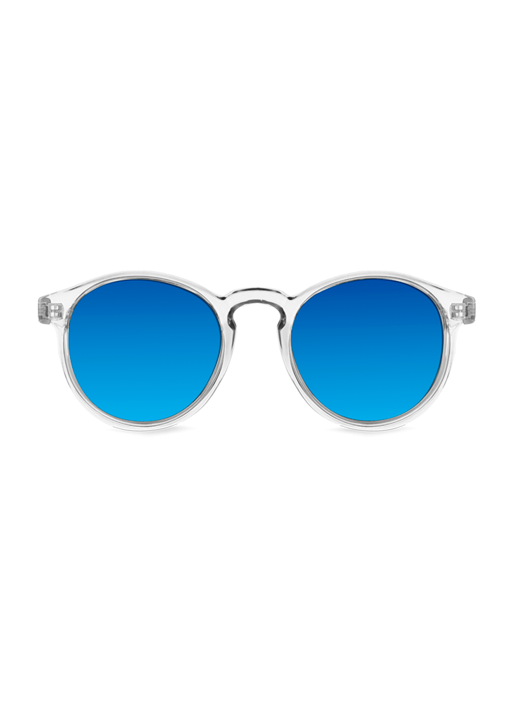 Transparent aviators yellow clear. Clearwater sunglasses blue mirror