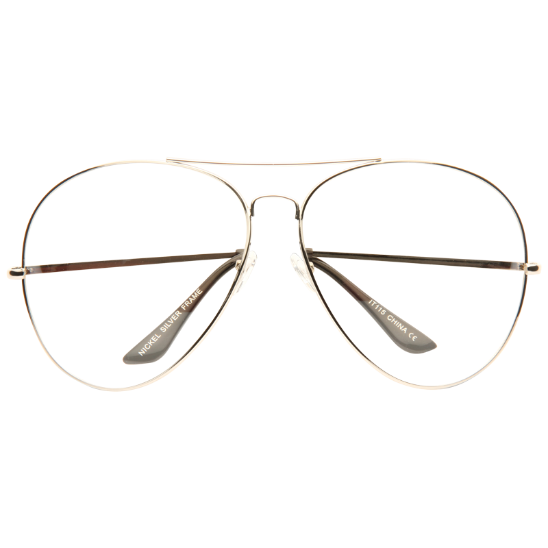 Transparent aviators eyeglasses. Kiln oversized lightly tinted