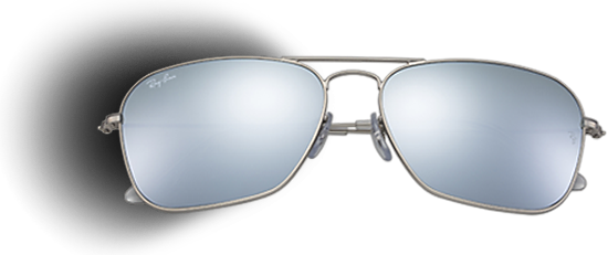 Transparent aviators silver rayban lens. Rectangular shape sunglasses ray