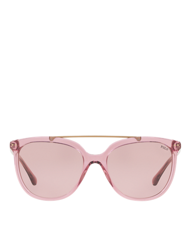 Transparent aviators eyeglasses. Women s sunglasses ralph