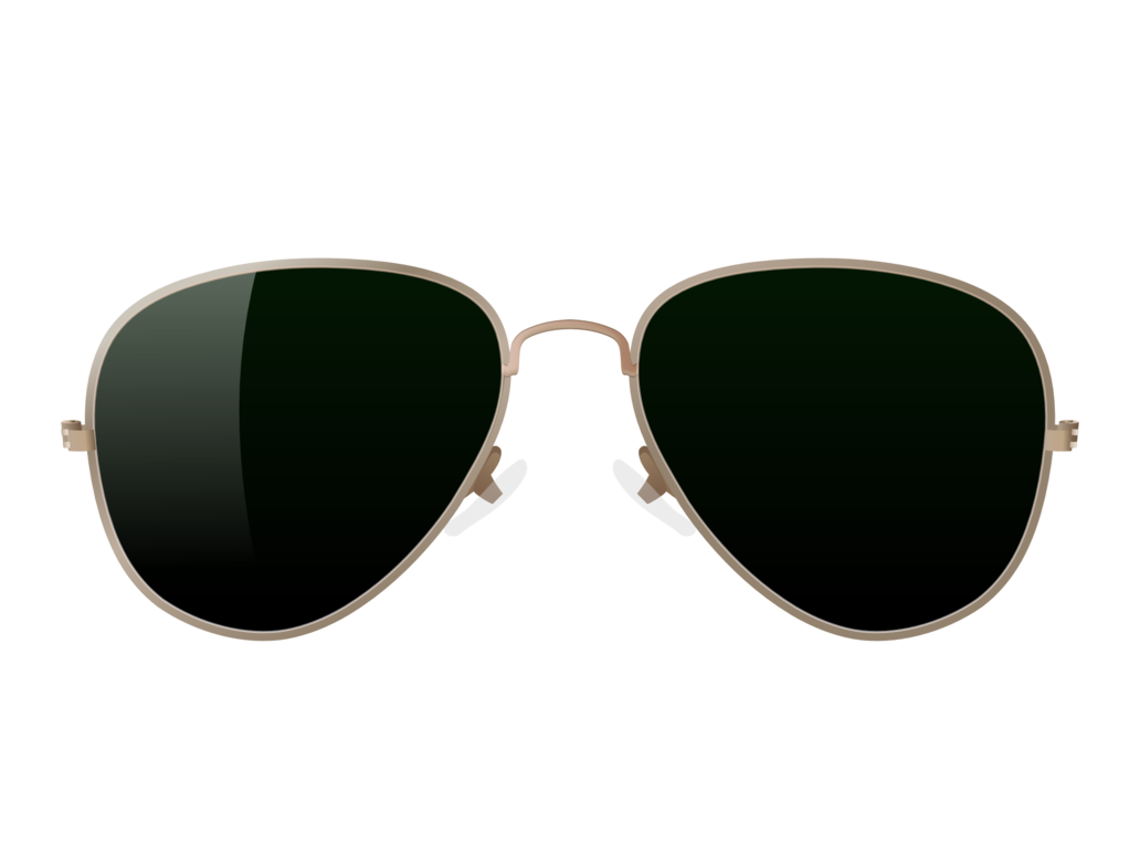 transparent aviators white