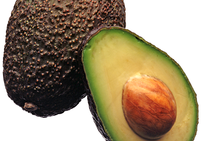 Transparent avocado clear background. Oil inventory archive the