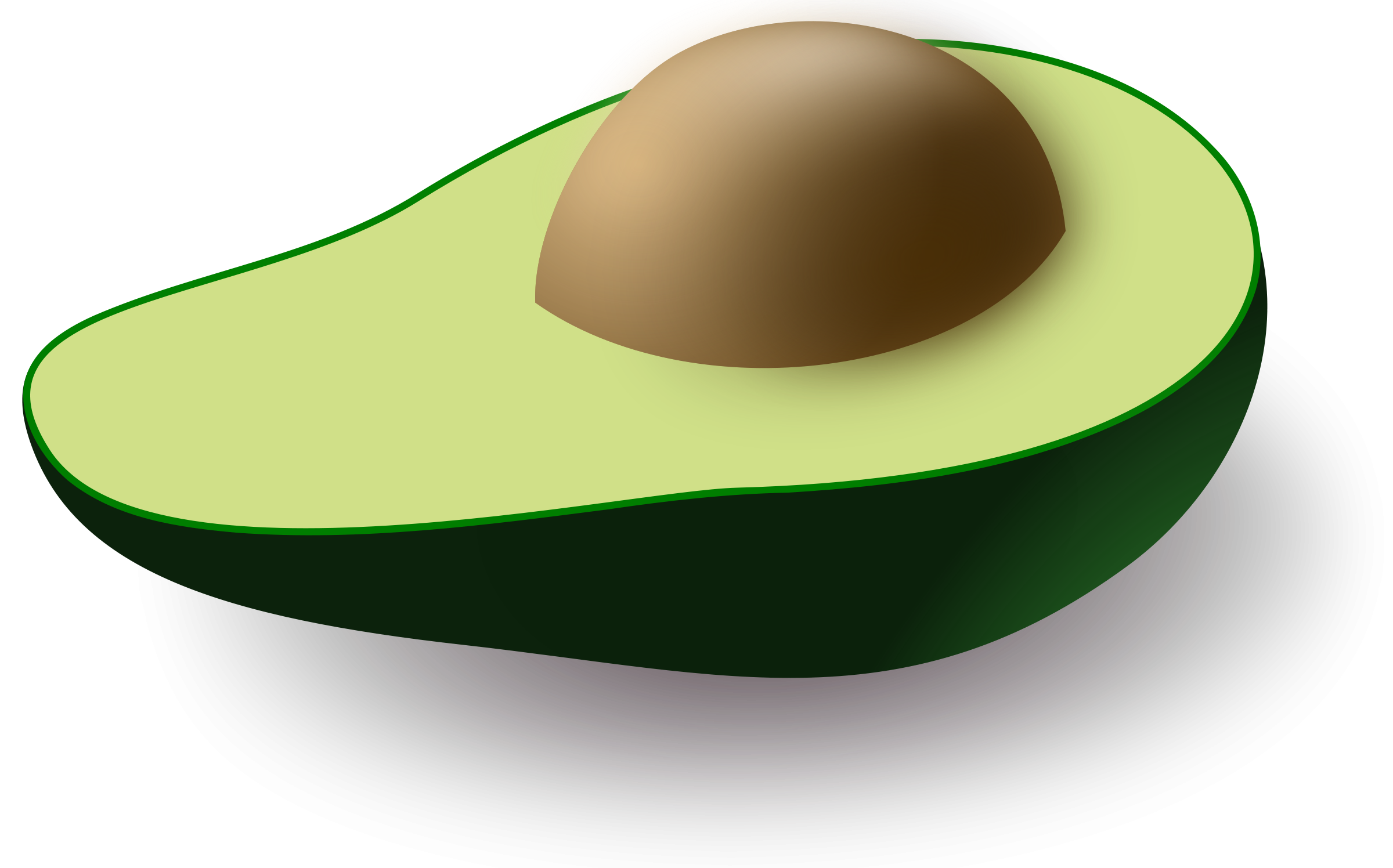 transparent avocado cartoon
