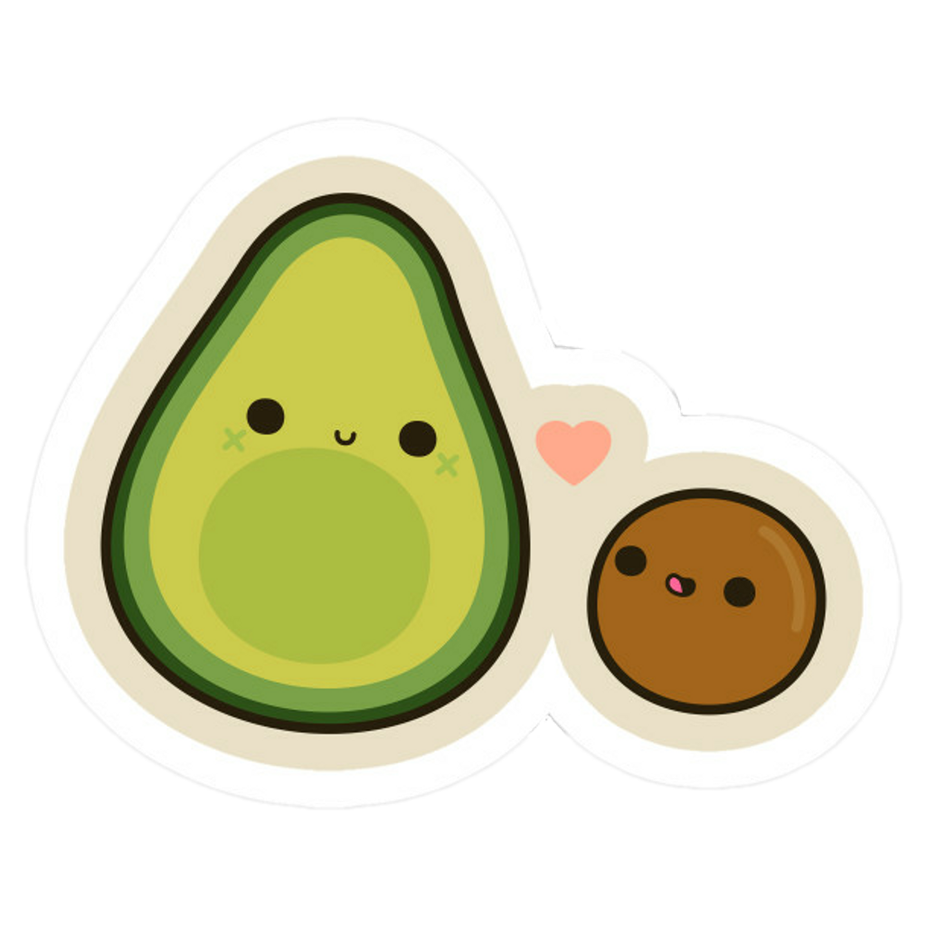 Transparent avocado cute. Cool love hearts