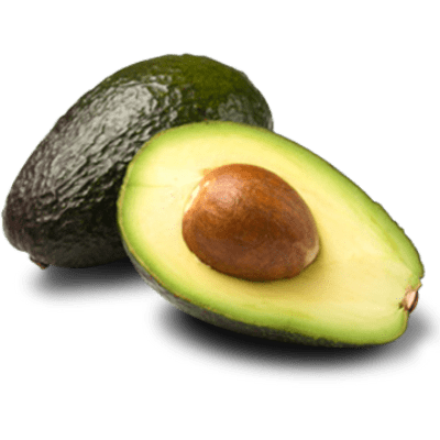 Transparent avocado open. Sliced png stickpng