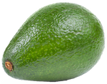 Transparent avocado stock photo. On a background by