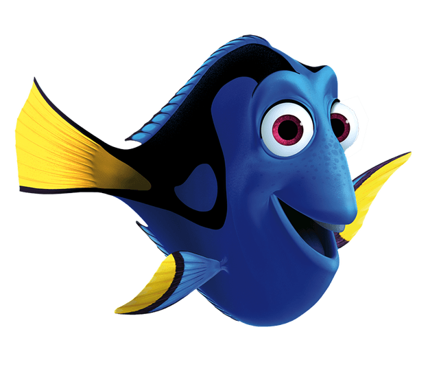 drawing dory blue tang fish