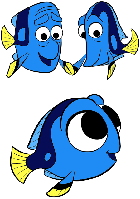 Transparent baby dory png. Finding nemo characters clipart