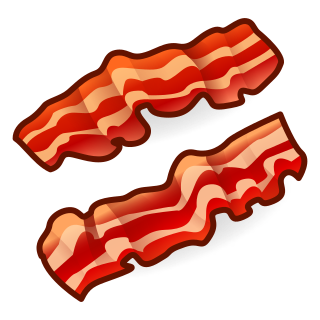 Transparent bacon one piece. Clip black and