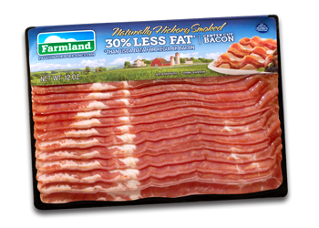 Transparent bacon rendered. Farmland hickory smoked less