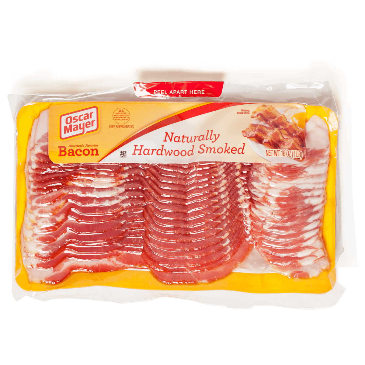 Transparent bacon smoked. The best supermarket cook