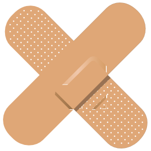 Transparent bandage clipart. Band aid magnet crossed