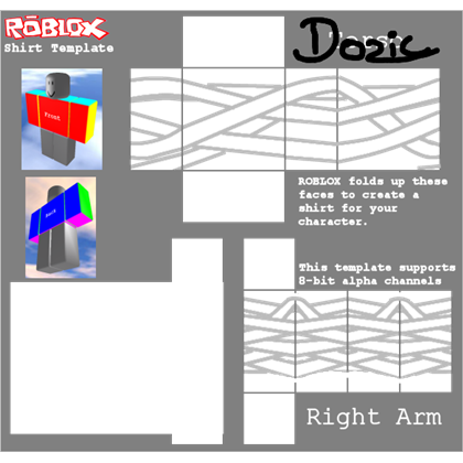 Transparent bandage roblox t shirt. White right arm with