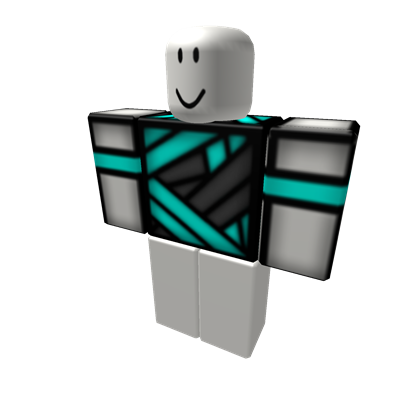 Transparent bandage roblox t shirt. Cyan with bandages by