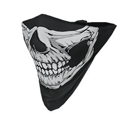 Transparent bandana black mouth. Skin skull face the