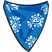 Transparent bandana blue. By flavored spreadshirt