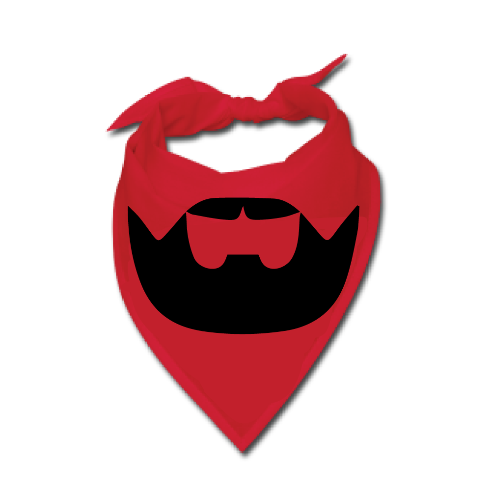 Transparent bandana mouth. Buy a red beardilizer
