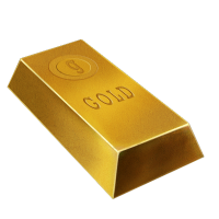 Transparent blocks gold. Collection of free golde