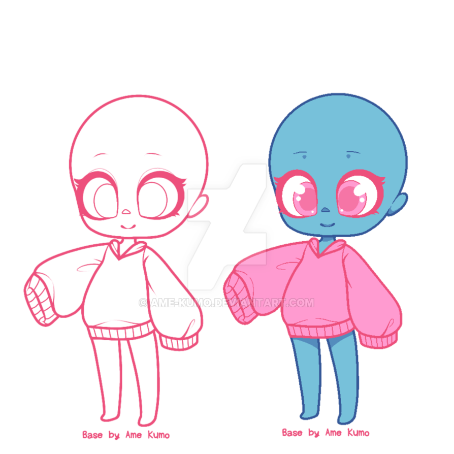 Transparent base chibi. Human pullover ptu by