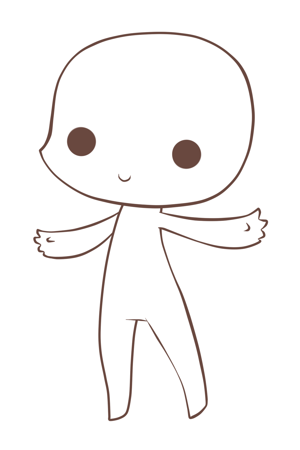 Transparent base chibi. Anime boy images by