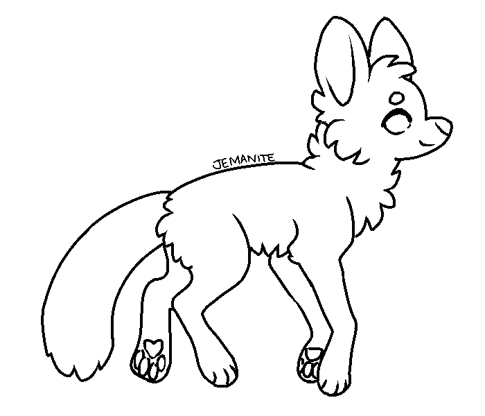 Transparent base fox. Free ms paint friendly