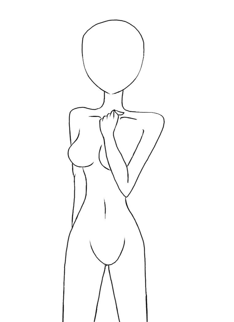 Transparent base human. Drawing bases for