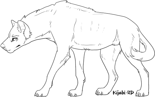 Transparent base hyena. F u lineart by