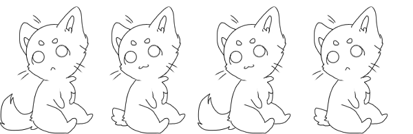 Transparent base kitten. Free to use by