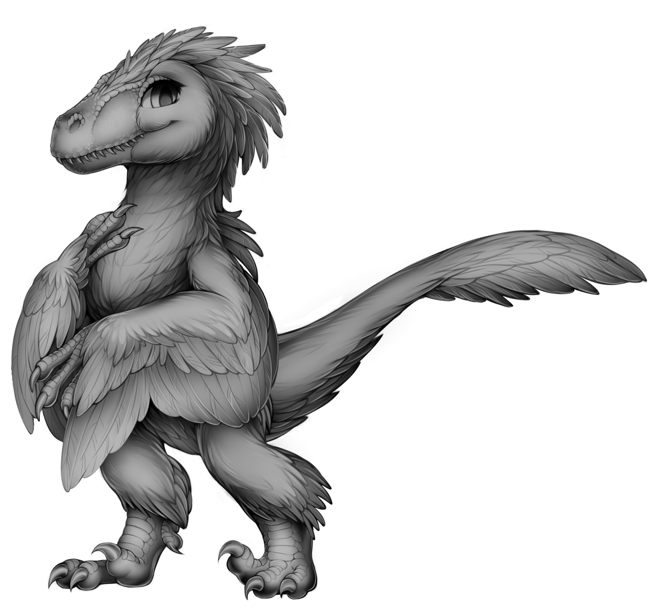 Transparent base velociraptor. Furvilla by fur affinity