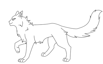 Transparent base warrior cat. Lineart favourites by cassyuiu