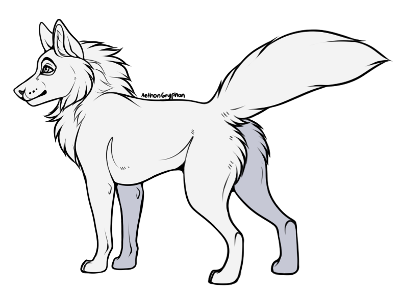 Transparent base wolf. I made free lineart