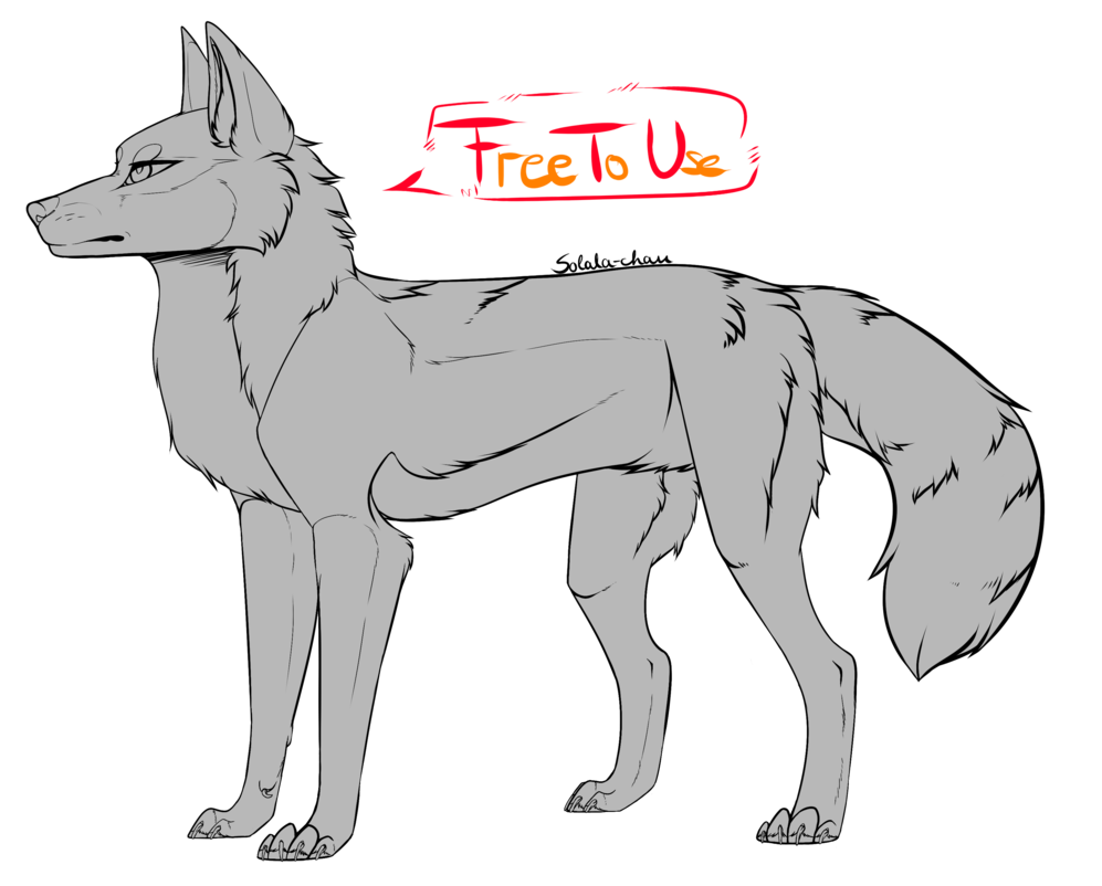 Transparent base wolf. Ftu by solala chan