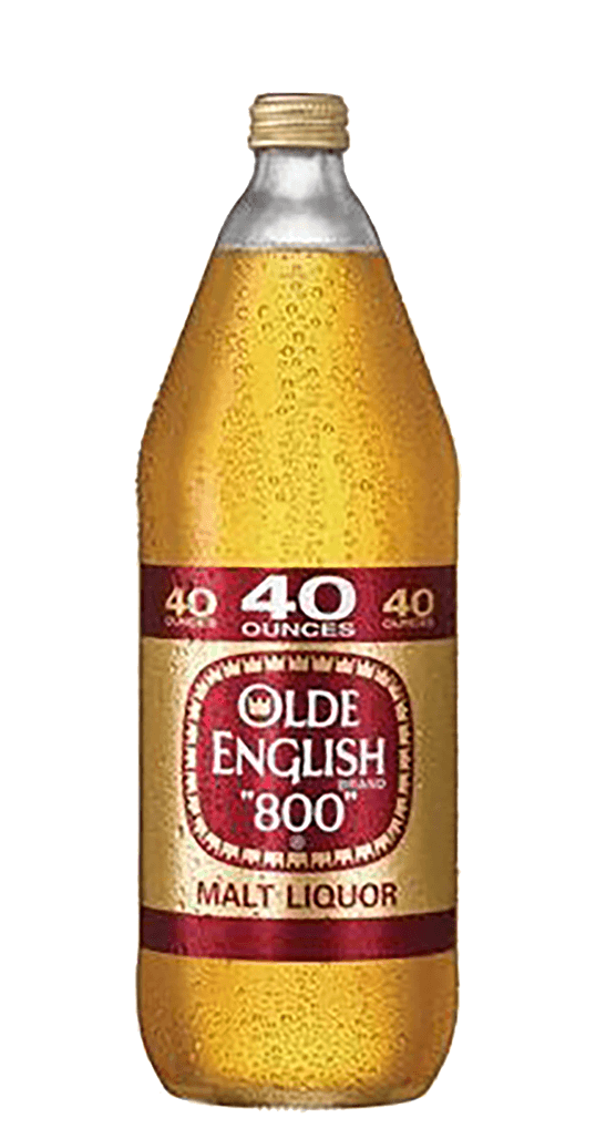 Transparent beer 40 oz. Cone old english team