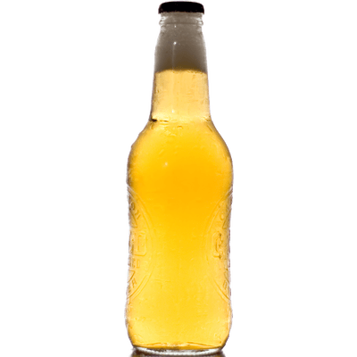Transparent beer bottled. Collection of bottle