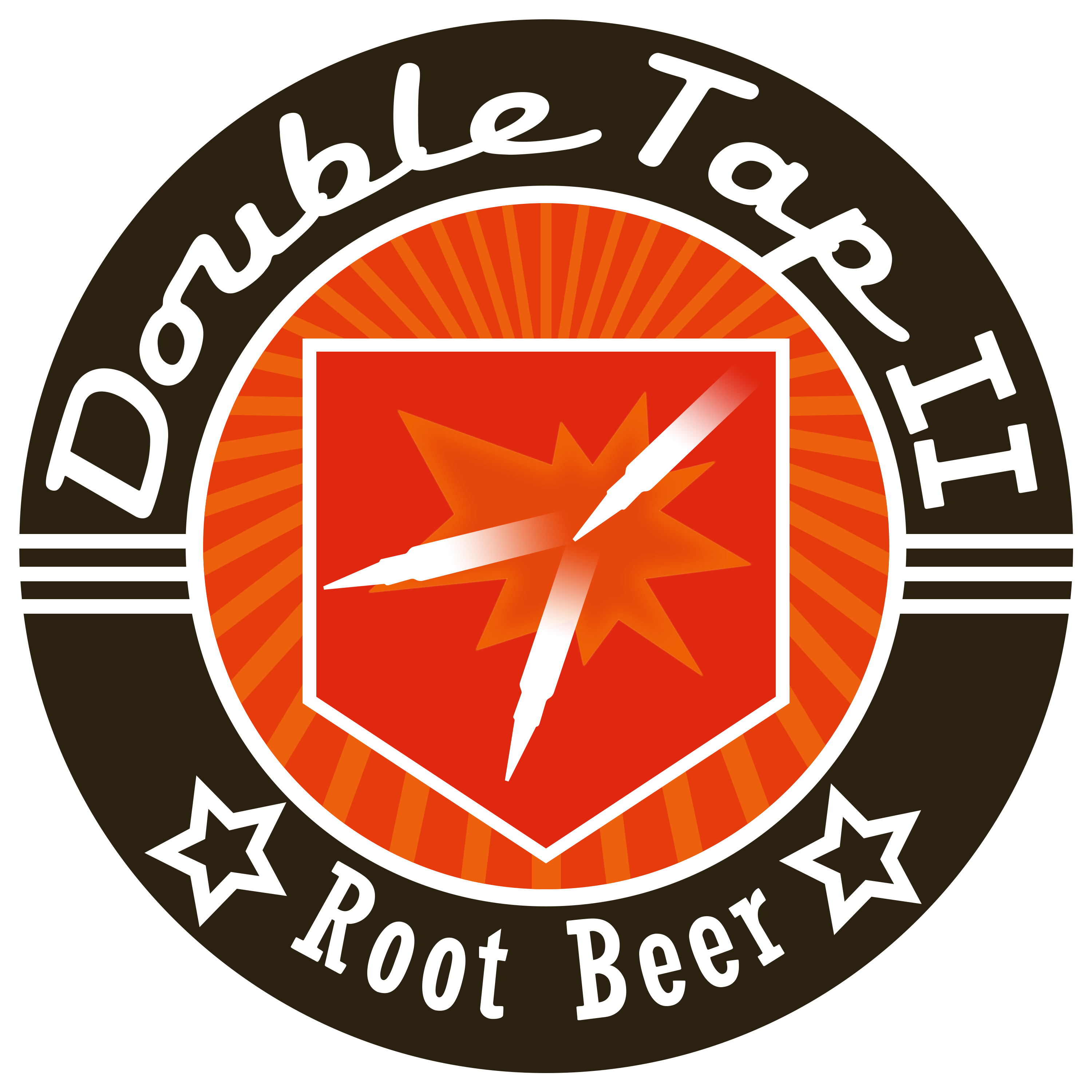 Transparent beer double tap root. Logo from treyarch zombies