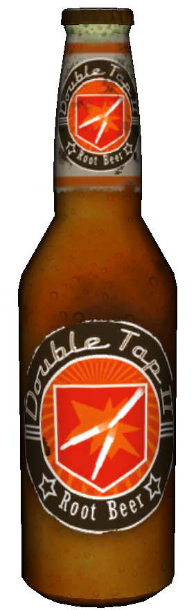 Transparent beer double tap root. Image perk a cola