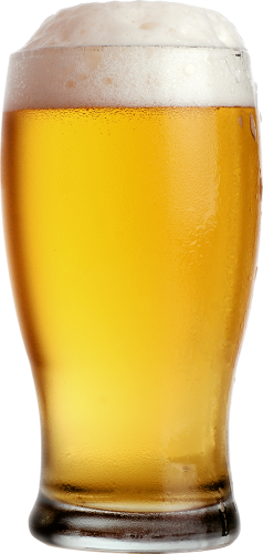 Transparent beer file. Glass of two isolated