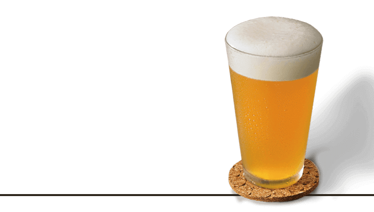 Transparent beer frosty. Beers bar outback steakhouse