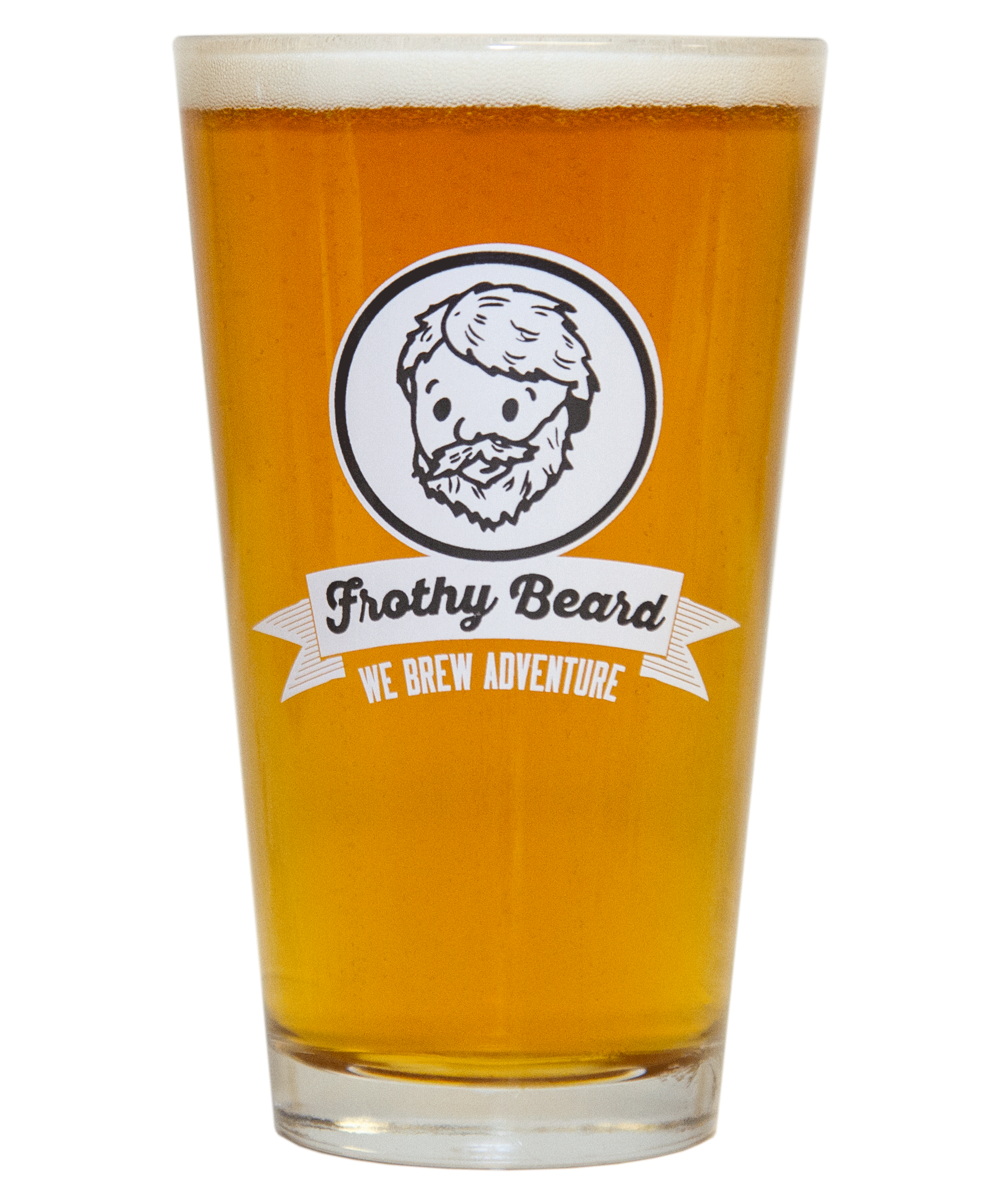 Transparent beer frosty. Ndale frothy beard