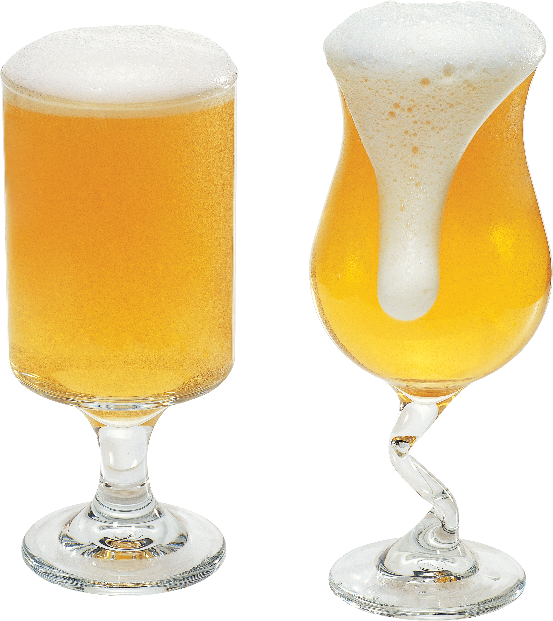 Transparent beer froth. Glass of png image