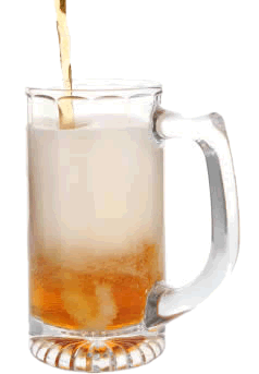 Transparent beer froth. How to reduce foam