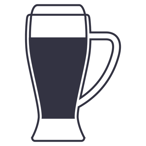 Transparent beer glass vector. Icon png svg
