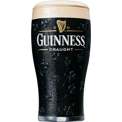 Transparent beer guinness. Draught glass png stickpng
